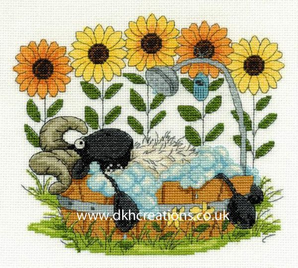 Shabby Sheep Time To Relax Cross Stitch Kit